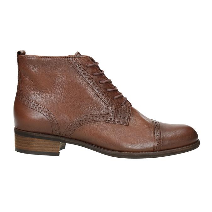 Kožená dámská kotníčková obuv gabor, hnědá, 526-3038 - 26