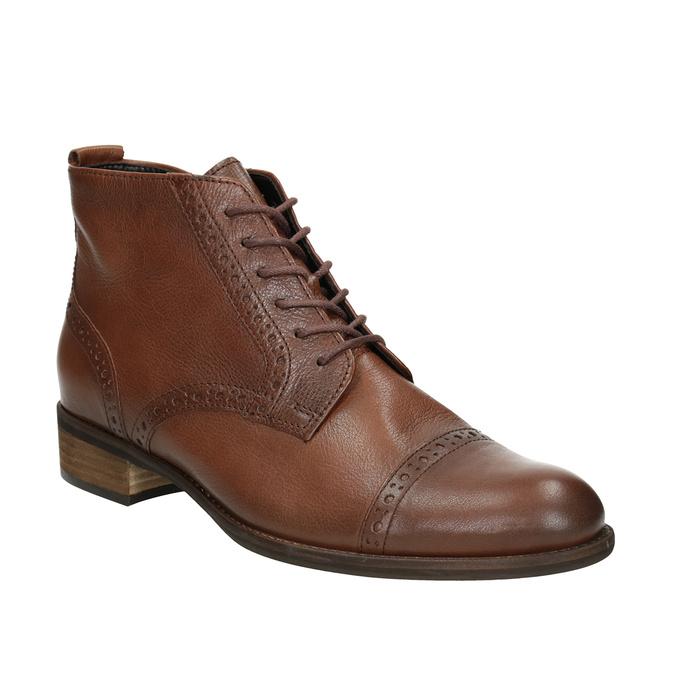 Kožená dámská kotníčková obuv gabor, hnědá, 526-3038 - 13