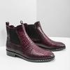 Kožená dámská Chelsea obuv bata, červená, 596-5678 - 18
