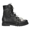 Kožená kotníčková obuv s kožíškem bata, černá, 594-6656 - 26