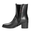 Kožená kotníčková obuv na podpatku ten-points, černá, 716-6045 - 15