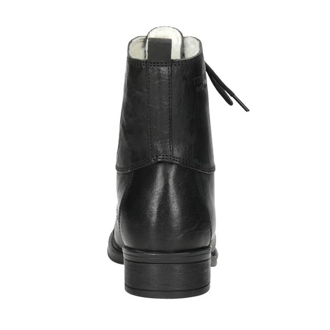 Kožená šněrovací obuv nad kotníky ten-points, černá, 626-6037 - 16