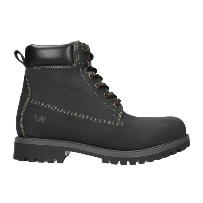 Pánská kožená zimní obuv weinbrenner, černá, 896-6656 - 15
