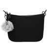 Dámská kabelka s přívěskem bata, černá, 961-6823 - 26