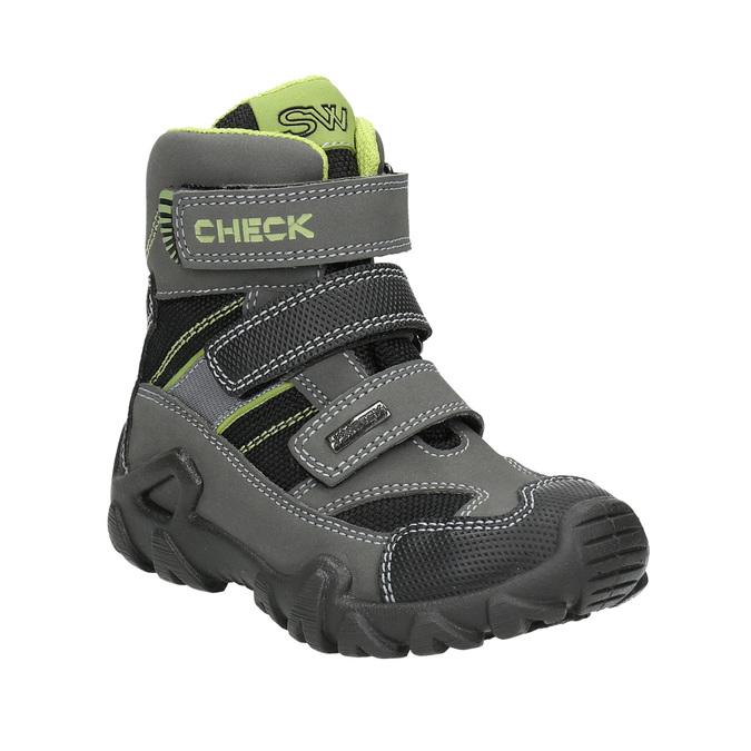 Dětská obuv na suché zipy mini-b, šedá, 299-2616 - 13
