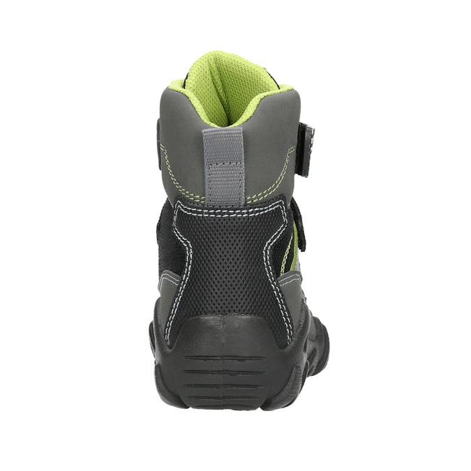 Dětská obuv na suché zipy mini-b, šedá, 299-2616 - 17