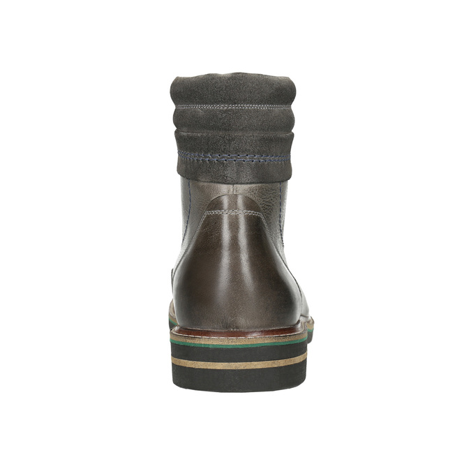 Kožená kotníčková obuv bata, šedá, 896-2686 - 17