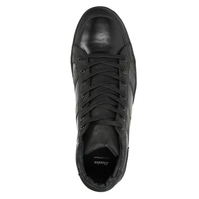 Kožené pánské kotníčkové tenisky bata, černá, 844-6644 - 15