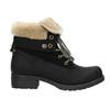 Kotníčková obuv s kožíškem bata, černá, 591-6618 - 15