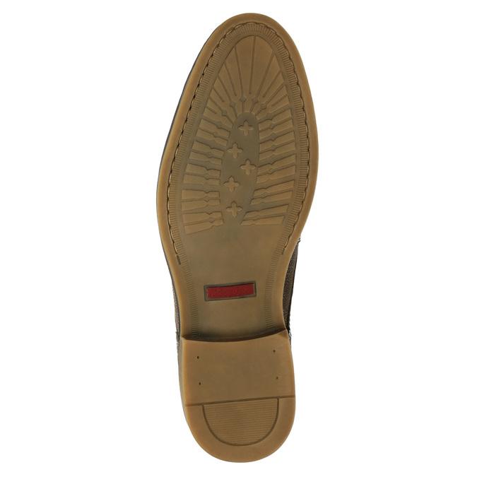 Kotníčková pánská obuv s prošíváním bata, hnědá, 826-4920 - 17