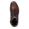 Kožená pánská obuv s masivní podešví bata, hnědá, 896-4665 - 26