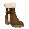 Dámská zimní obuv s přezkou bata, hnědá, 699-4637 - 13