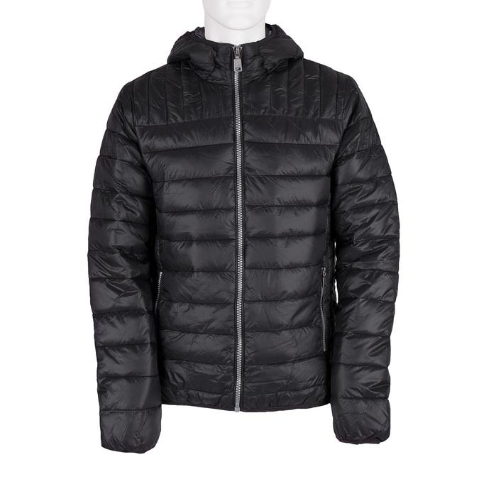 Pánská prošívaná bunda s kapucí bata, černá, 979-6143 - 13