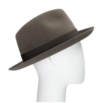 Pánský hnědý klobouk s mašlí tonak, hnědá, 909-3648 - 13