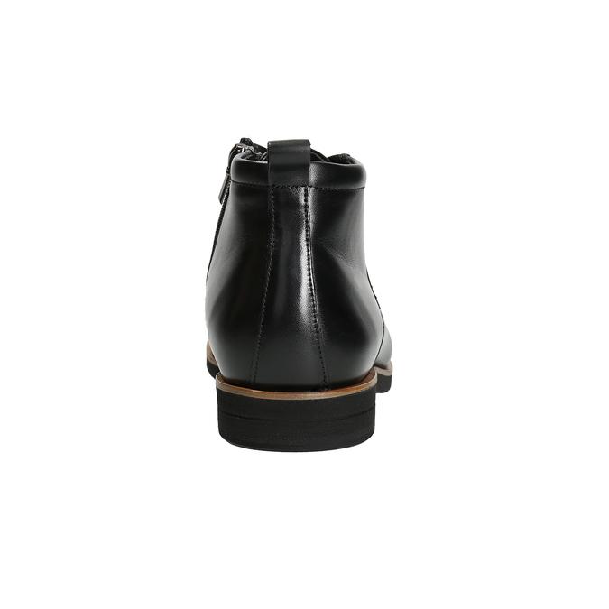 Pánská kožená kotníčková obuv conhpol, černá, 894-6696 - 16