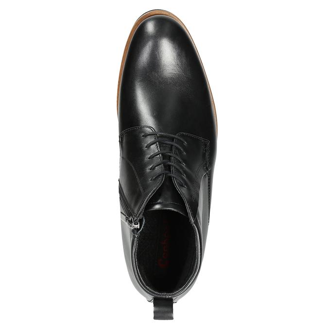 Pánská kožená kotníčková obuv conhpol, černá, 894-6696 - 15