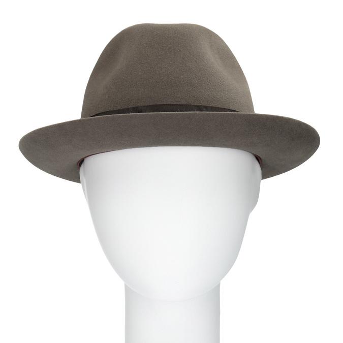 Pánský hnědý klobouk s mašlí tonak, hnědá, 909-3648 - 16