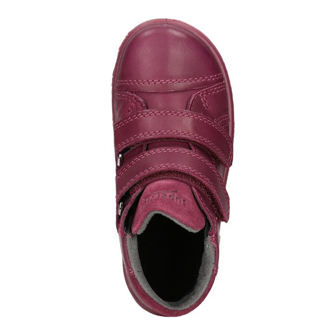 Kotníčková kožená dětská obuv superfit, červená, 124-5037 - 15