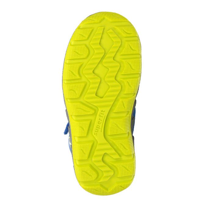 Dětská zimní obuv s výraznou podešví superfit, modrá, 293-9022 - 17