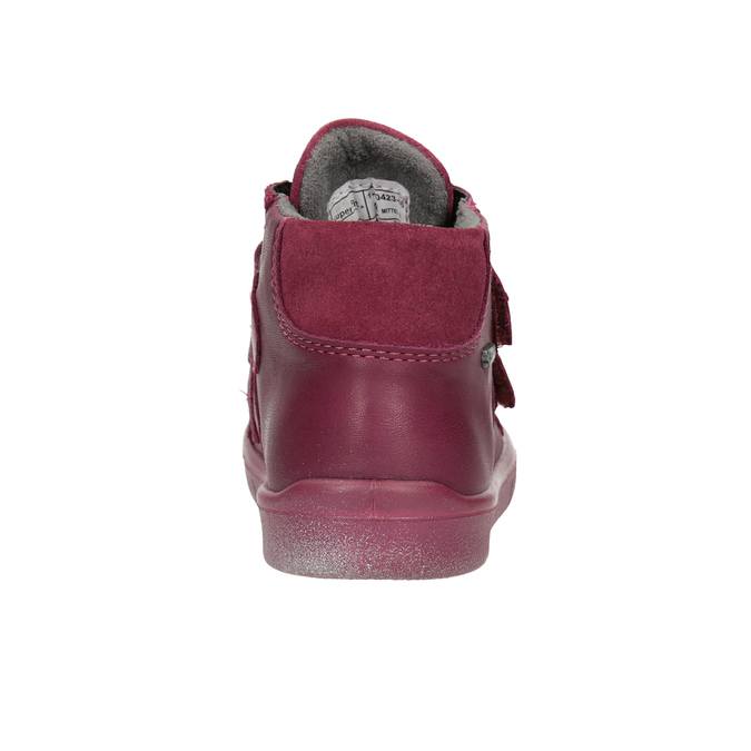 Kotníčková kožená dětská obuv superfit, červená, 124-5037 - 16