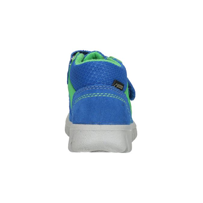 Kožená dětská obuv na suché zipy superfit, modrá, 113-9036 - 16