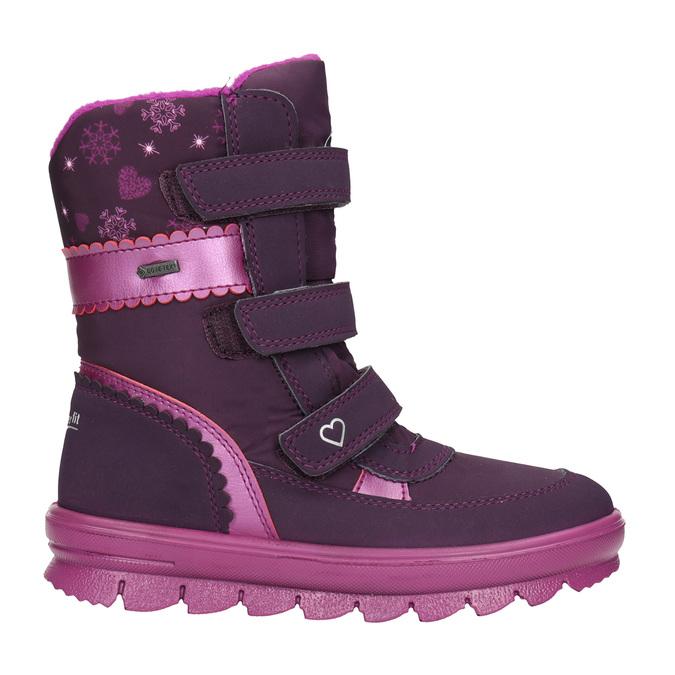 Fialová dívčí zimní obuv superfit, červená, 399-5030 - 26