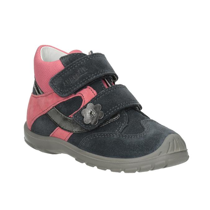 Kotníčková kožená dívčí obuv superfit, šedá, 123-2035 - 13