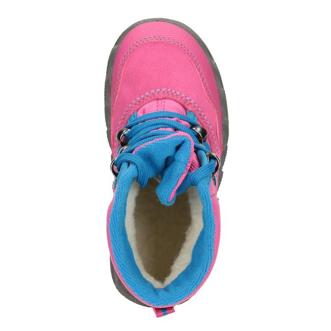 Růžová dívčí zimní obuv superfit, červená, 293-5023 - 15