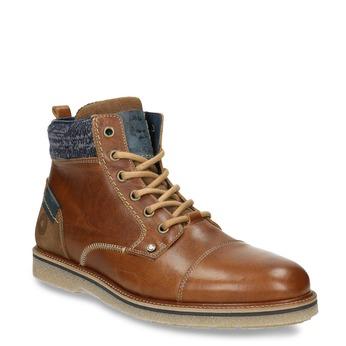 Pánská kotníková obuv bata, hnědá, 896-3669 - 13