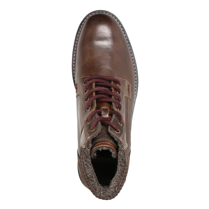 Kotníčková zimní obuv pánská bata, hnědá, 896-4657 - 26