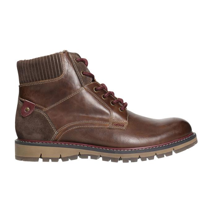 Kotníková zimní obuv pánská bata, hnědá, 896-4657 - 15