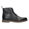 Kožená kotníková obuv se zateplením bata, černá, 896-6662 - 15