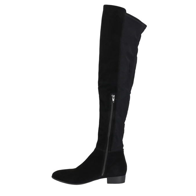 Dámské kozačky nad kolena vagabond, černá, 593-6016 - 26