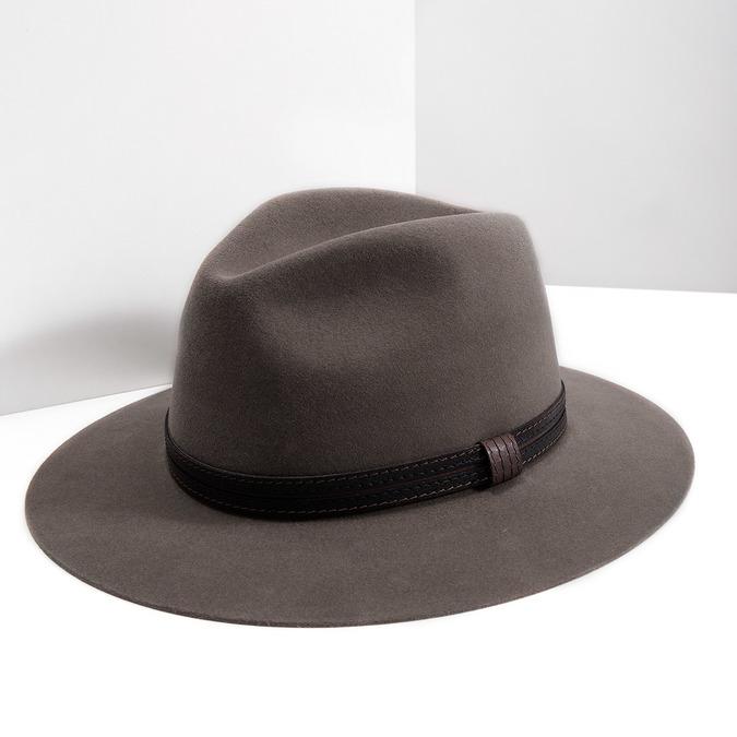 Pánský klobouk z králičí srsti tonak, hnědá, 909-3650 - 18