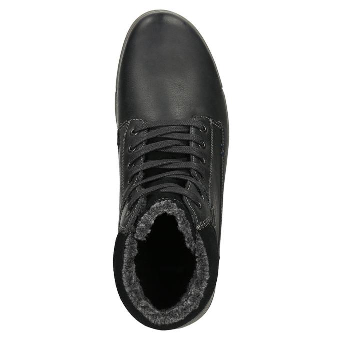 Pánská kožená zimní obuv bata, černá, 896-6672 - 26