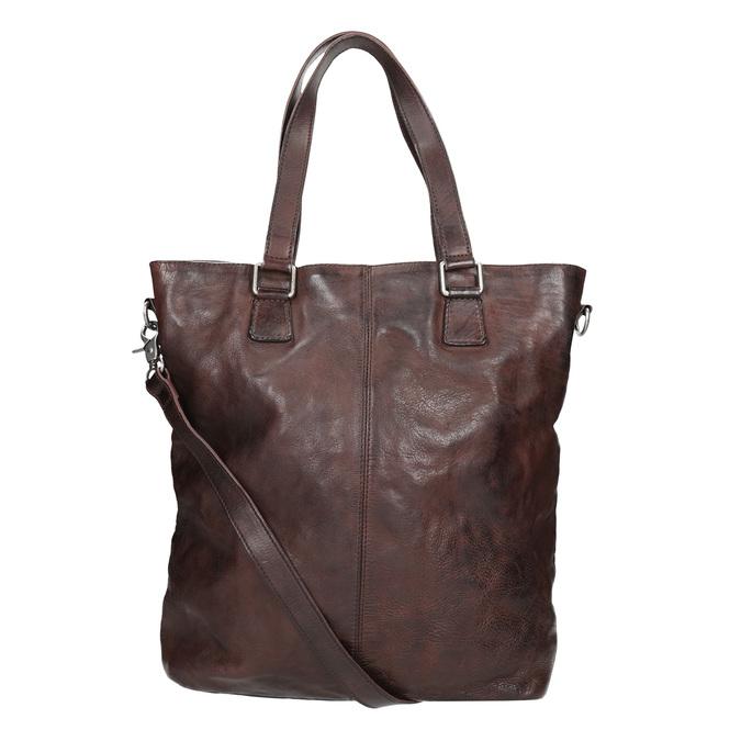 Hnědá kožená kabelka bata, hnědá, 964-4245 - 16
