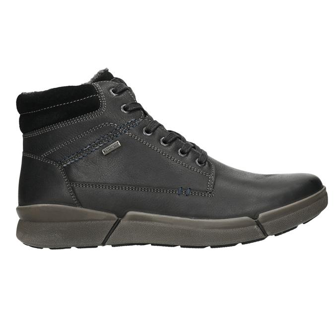 Pánská kožená zimní obuv bata, černá, 896-6672 - 15
