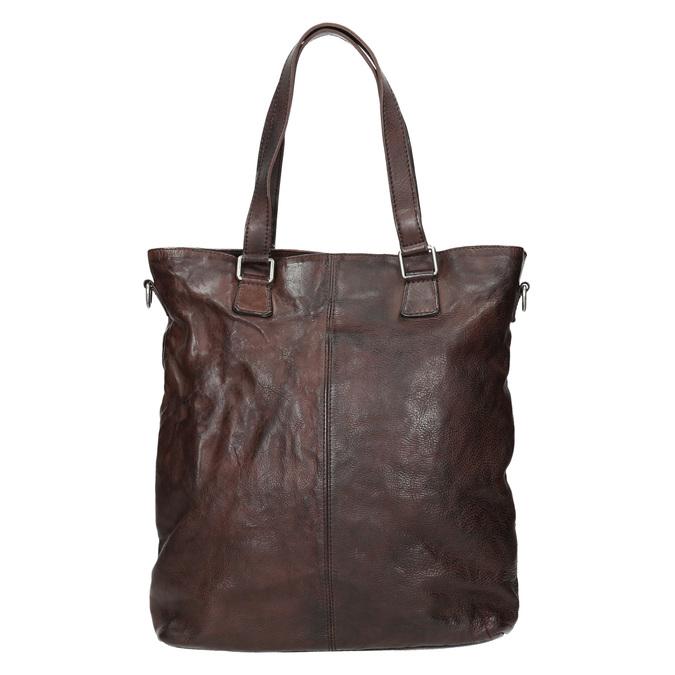Hnědá kožená kabelka bata, hnědá, 964-4245 - 26