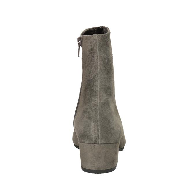 Kotníčkové kozačky z broušené kůže gabor, šedá, 613-2022 - 16