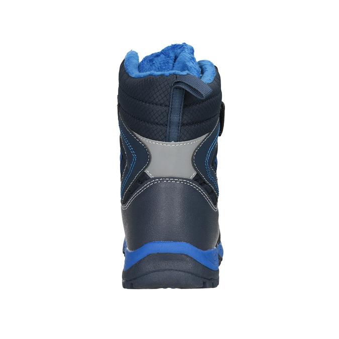 Dětská zimní obuv na suché zipy mini-b, modrá, 491-9653 - 16