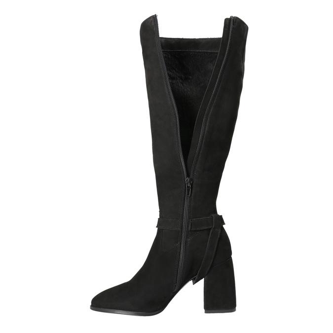 Kozačky na stabilním podpatku classico-and-bellezza, černá, 793-6031 - 15