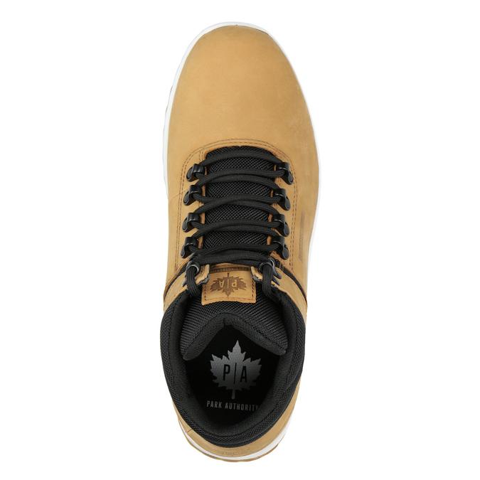 Pánská kožená kotníčková obuv k1x, hnědá, 806-3542 - 15