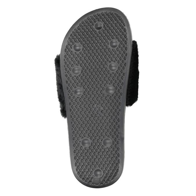Dámské černé pantofle north-star, černá, 579-6624 - 17