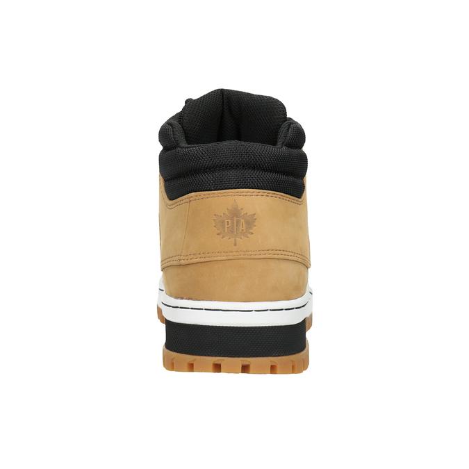 Pánská kožená kotníčková obuv k1x, hnědá, 806-3542 - 16