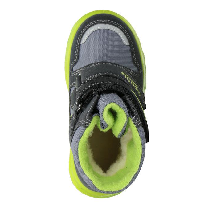 Dětská zimní obuv s výraznou podešví superfit, šedá, 299-2025 - 15