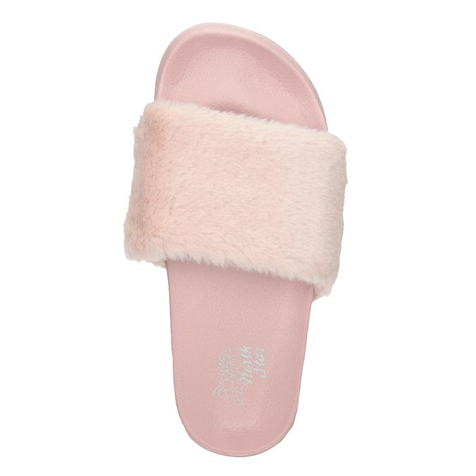 Růžové dámské pantofle north-star, červená, 579-5624 - 15