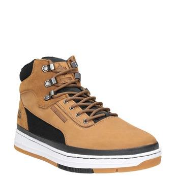 Pánská kožená kotníčková obuv k1x, hnědá, 806-4552 - 13