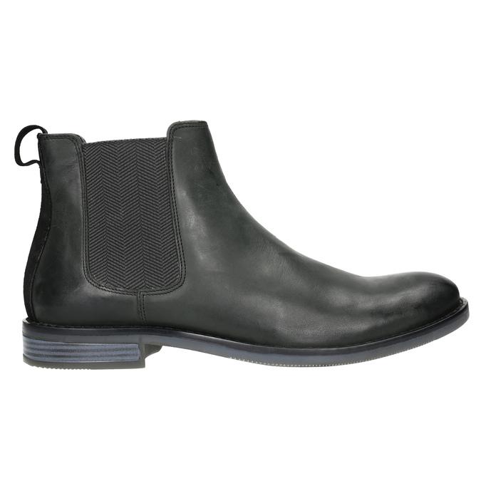 Pánská kožená Chelsea obuv rockport, černá, 896-6039 - 15