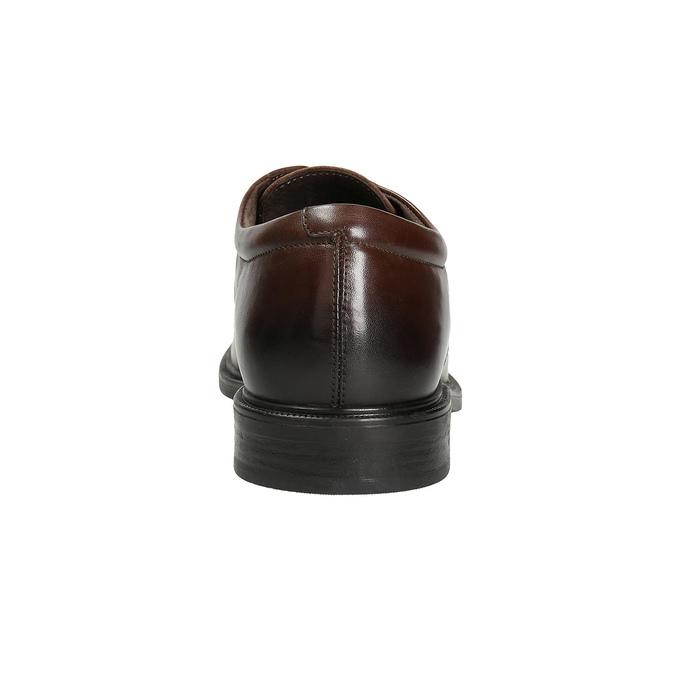 Kožené pánské polobotky s prošíváním climatec, hnědá, 824-4986 - 16