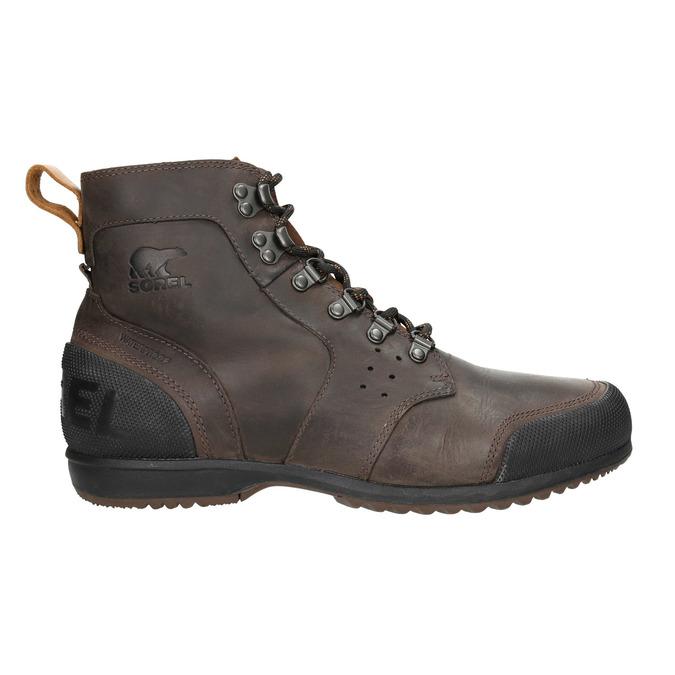 Pánská kožená zimní obuv sorel, hnědá, 826-4067 - 26